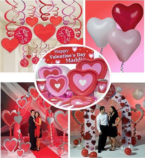 Seasonal product categories dollars cents stores Valentine stage decorations