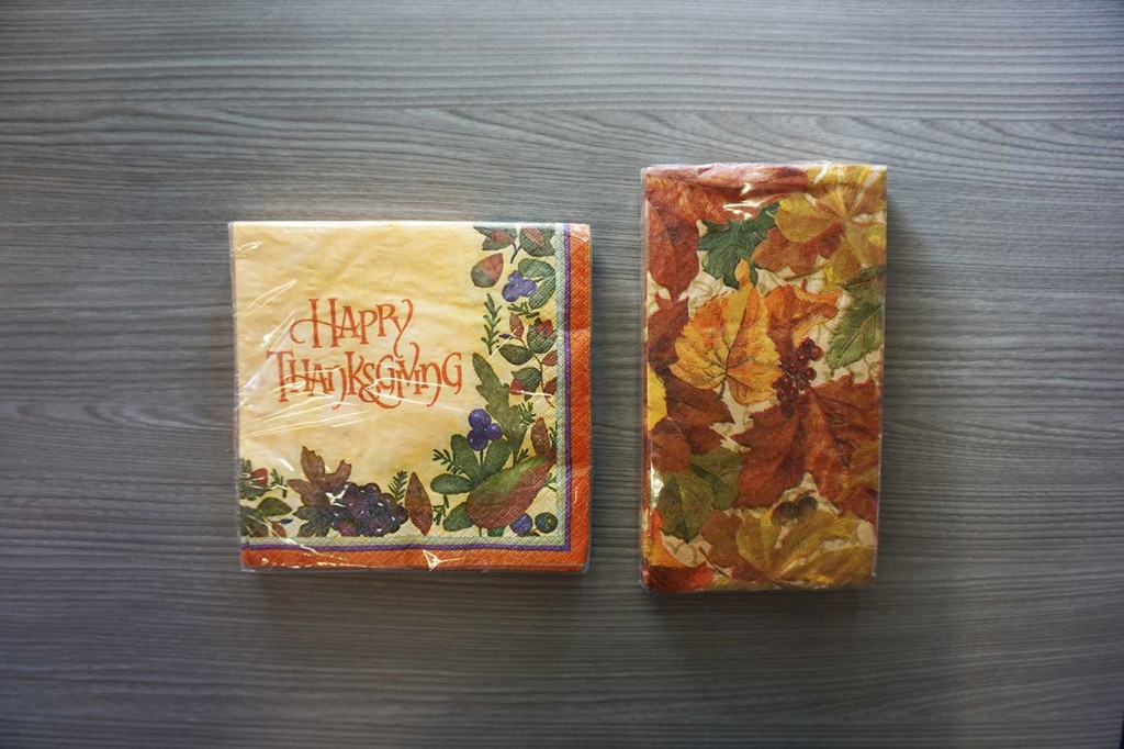 Thanksgiving dinner napkins