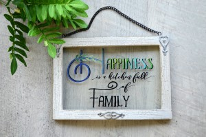 Valentines Gifts under $25 - glass sign