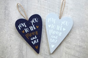 Valentines Gifts under $25 - love you to the moon and back sign